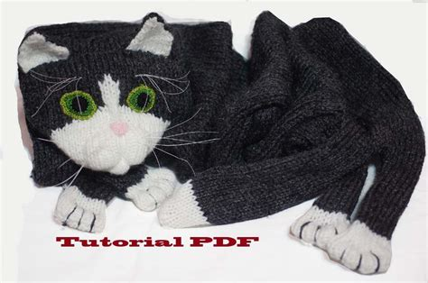 knitting pattern cat scarf cat scarf pattern pdf file knitting a cat scarf pattern