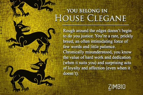 game of thrones house quiz house clegane which game of thrones house are you zimbio