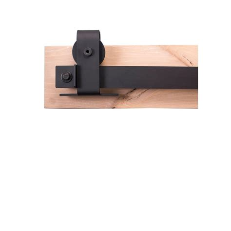 Sliding Barn Door Hardware Home Depot Rustica Hardware 84 In Flat Black Sliding Barn Door Hardware Kit With Top Mount Industrial