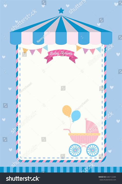 Invitation Letter Format For New Born Baby baby shower invitation template card เวกเตอร สต อก