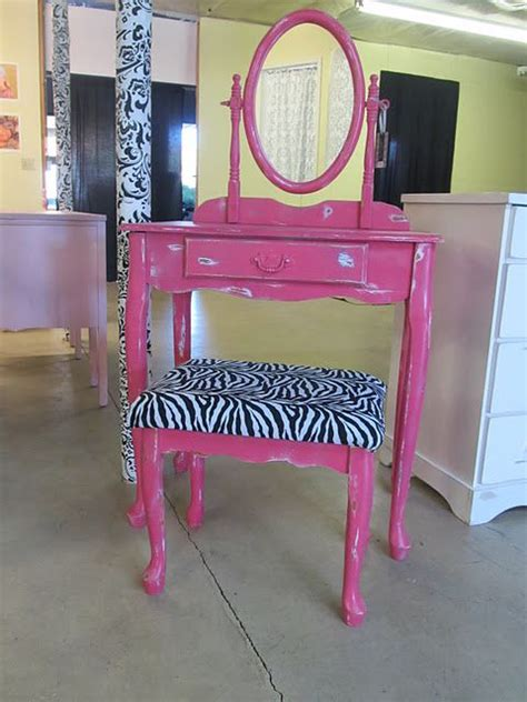zebra vanity bench hot pink vanity with zebra bench painted furniture