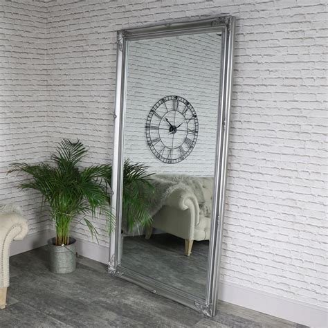 extra extra large full length ornate silver wallleaner