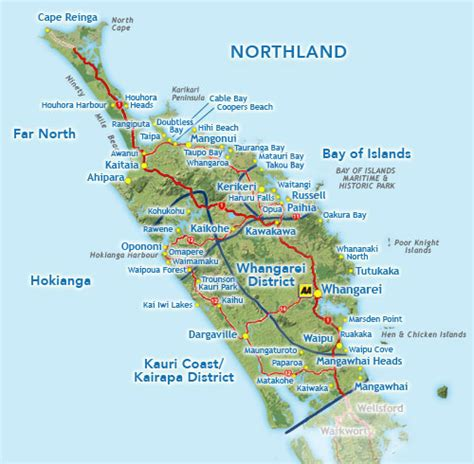 Search In Nz Northland Map Search New Zealand Accommodation What To See Do Transport