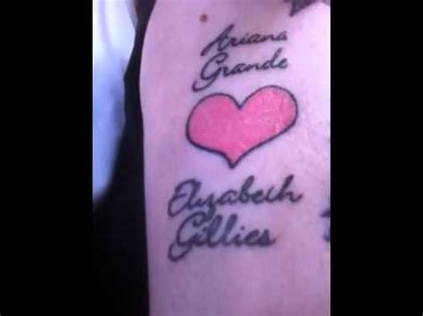 elizabeth gillies tattoo my for grande liz gillies justice