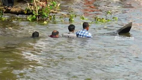 small boat sinking small boat sinking hilarious chambakulam boat race ന