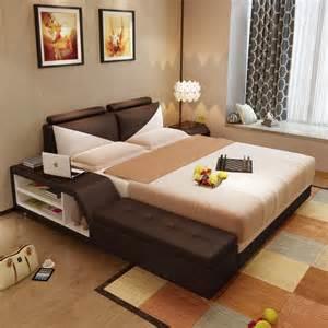 lit en cuir simili avec coffre de rangement courchevel