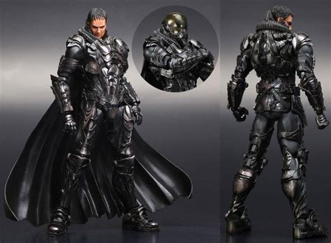 justice a steamy filled bodyguard armor les play arts figures de of steel dcplanet fr