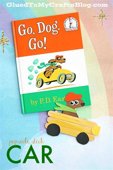 dogs go go go kid craft glued to my crafts