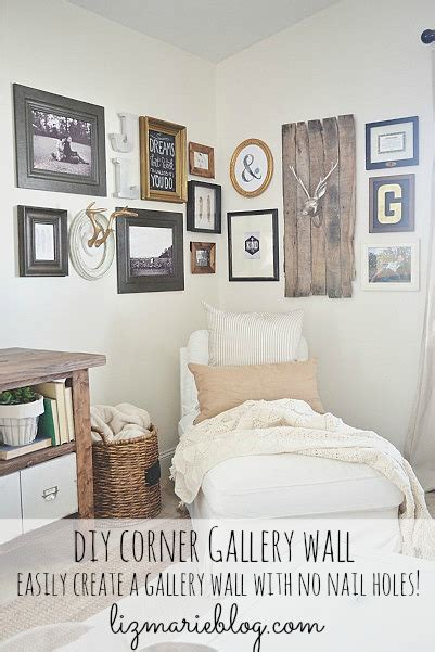how to decorate a corner wall how to diy corner gallery wall