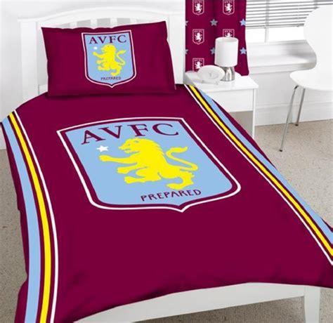 villa bedding aston villa fc football club single panel duvet set quilt