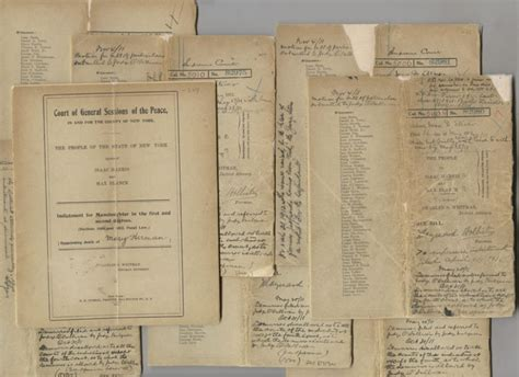 Dept Of Court Records Court Records From The Trial Of Blanck And Harris