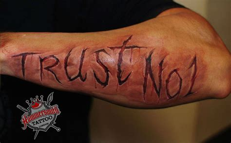 trust no one tattoo designs 80 trust no one tattoos and designs