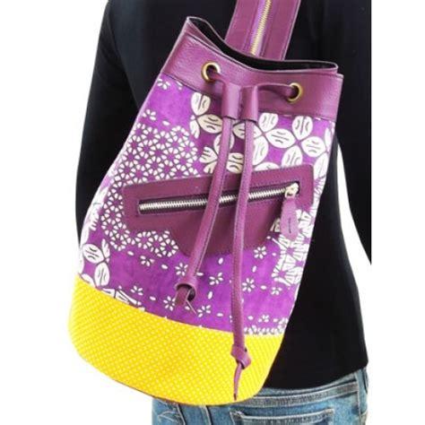 Tas Backpack Ransel Unik Batik Hijau tas ransel batik ellie ransel wanita yang catchy
