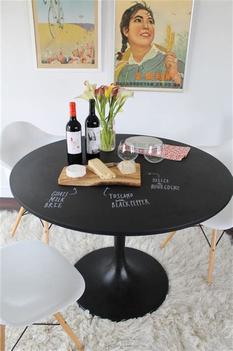 diy chalkboard dining table chalkboard table diy project eclectic dining room
