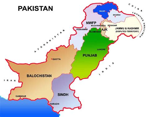 map of pakistan pakistan map showing provinces and capital cities travel