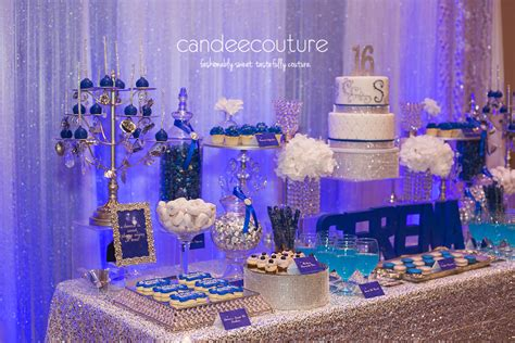 sparkly sweet 16 dessert table candee couture plano tx