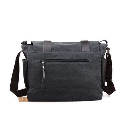 Tas Korea 4 In 1 tas selempang pria korean canvas messenger bag black gray jakartanotebook