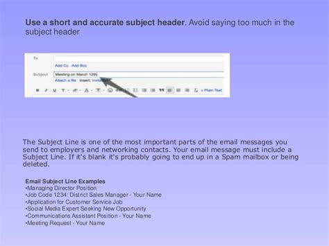 email subject for applying job applying for a job e mail