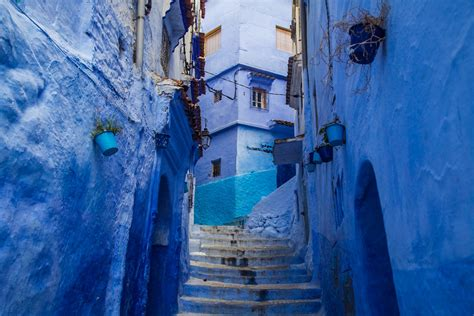 blue city in morocco moroccan blue paint finding peace within chefchaouen
