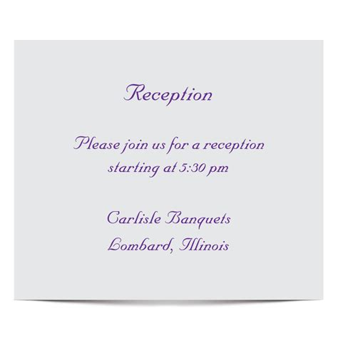 reception cards template napa valley reception card www tilliecreativedesign
