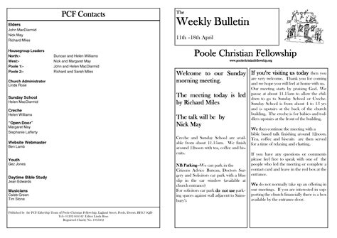 Church Bulletin Template Free Templates Resume Exles 8ma64xla2q Church Bulletin Templates Microsoft Publisher