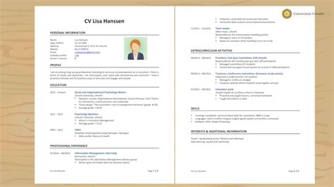 How To Do A Cv Template by Cv Cv Original Gratuit Psco