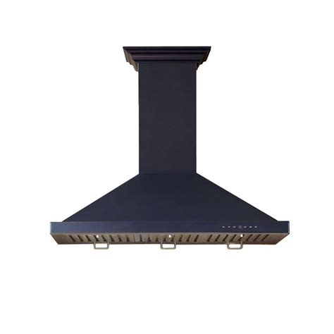 Kitchen Faucets Copper by Zline 30 In Wall Mount Range Hood In Black With Copper
