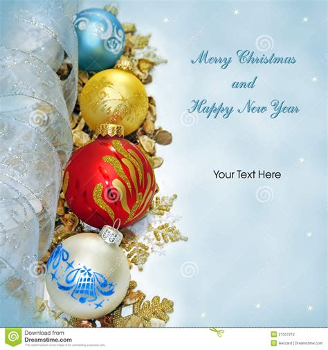 merry christmas  happy  year greeting card stock photo image  circle event