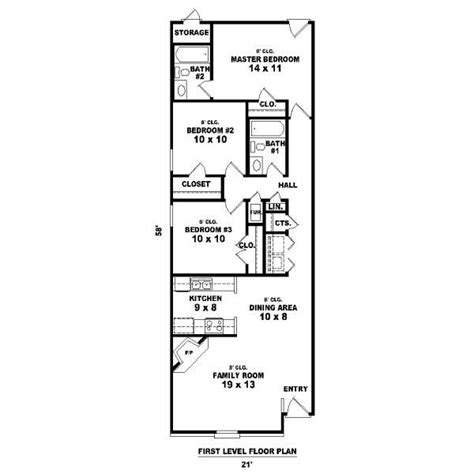long narrow house plans house plan 81 13857 long and narrow by sweet dreams for