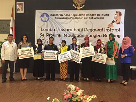 Bahasa Pewara pemenang lomba pewara bagi pegawai instansi se provinsi