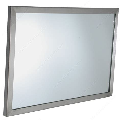 stainless steel angle frame mirror 24 quot x 36 quot modern stainless steel angle framed mirror richelieu hardware