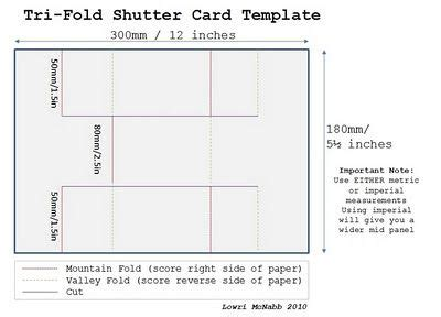 Tri Shutter Card Template by Tri Fold Shutter Card Template Card How To S