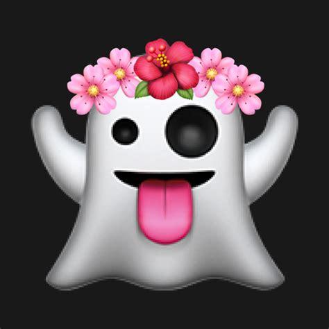 flower design emoji ghost emoji with flower crown birthday girl great gift