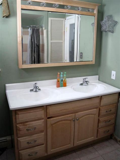 install bathroom vanity between two walls the question