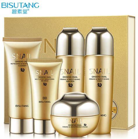 L Skin Care Care Whitening bisutang snail skin care set essence bb creams toner cleanser care whitening