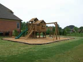 Backyard Playground Mulch Backyard Playground Hand Crafted Wooden Playsets Amp Swing
