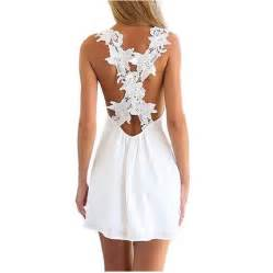 Home Decor Trends For Summer 2015 women sexy backless lace crochet chiffon summer beach mini