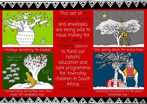 sos africa african charity christmas cards