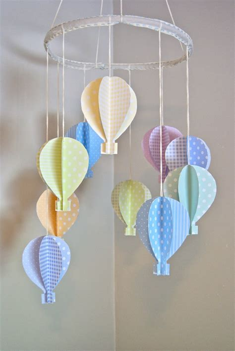 How To Make Paper Air Balloons - 3d paper air balloon mobile