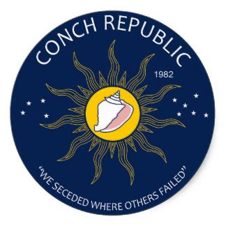couch republic conch republic stickers zazzle
