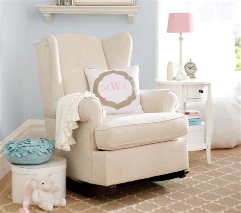 Wingback Rocker And Ottoman Nursery Rocking Chair Rocking Chair And Ottoman For Nursery