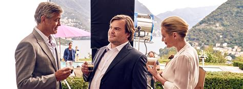 nespresso commercial actress jack black behind the scenes with george clooney and jack black as