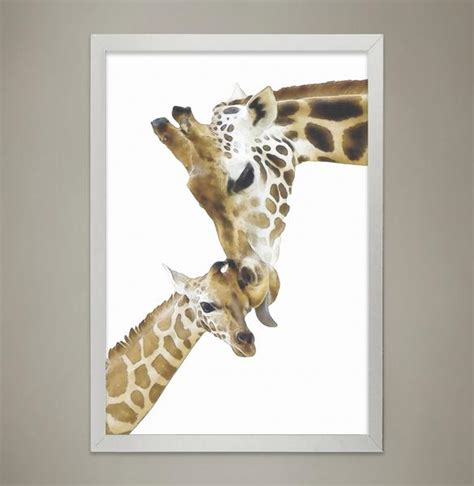 giraffe decor for nursery giraffe family print animal print nursery wall decor
