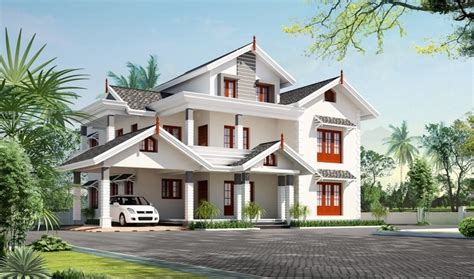 House Exterior Design Pictures Kerala | exterior 5 bhk villa design at 3450 sq ft