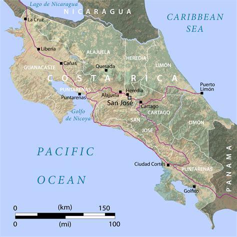 capital costa rica mapa