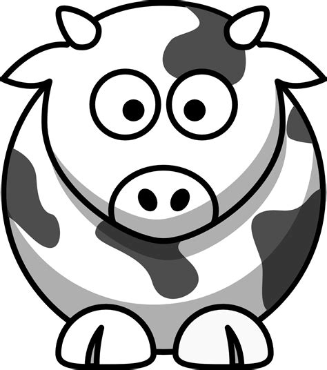lemmling cartoon cow coloring book colouring black white