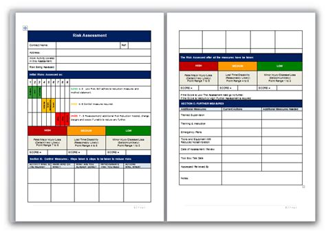 risk analysis template word blank risk assessment template with matrix