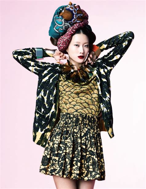 Gets All Fashionista In Marchs Harpers Bazaar by Fashion Editorial Print Extasy By Hyun Yi In