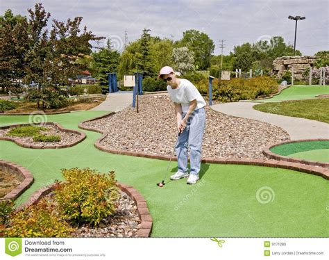 design your dream mini golf course lady at mini golf course stock photo image 9171280