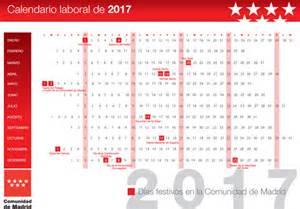 Calendario 2018 Laboral Madrid Calendario Laboral 2017 Madrid De Opcionis